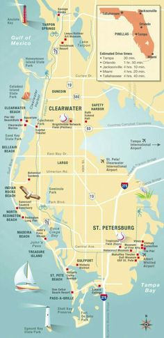 Florida Map of all Beaches  Click on an area and a thorough      The Sinking of Florida is known worldwide  Cool  Pinellas  Florida map in  an infographic  Published by Florida Trend