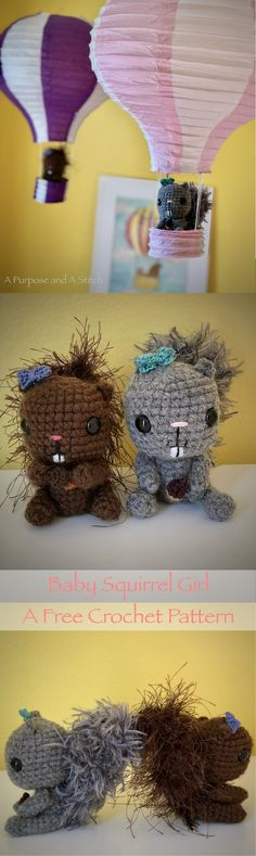 Free Amigurumi Pattern- Baby Squirrel Girl