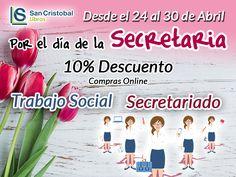 Semana dedicada a las Secretarias y al trabajo social 10% de Descuentos en compras online  http://ift.tt/2pD4Vfu  975 510 800