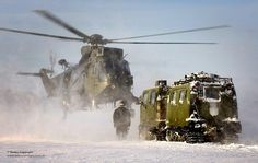 Royal Navy Sea King Mk4 Helicopter Practices Load Lifting Drills in Norway by Defence Images, via Flickr