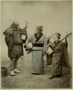 Street musicians, ca.1870s by Felice Beato