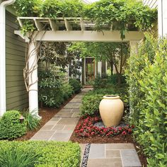 50 Cute Front Yard Courtyard Landscaping Ideas Landscape design is not a one-time process, but one that is ongoing. This is particularly true when it comes to […] Courtyard Landscaping, Small Courtyard Gardens, Courtyard Design, Front Courtyard, Modern Landscaping, Back Gardens, Front Yard Landscaping, Landscaping Ideas, Pergola Ideas