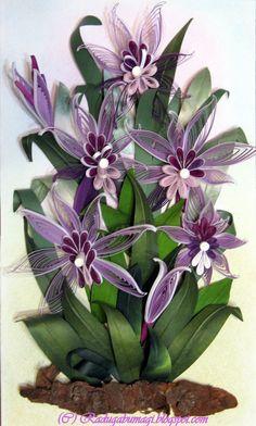 *QUILLING ~ Irises - orchids