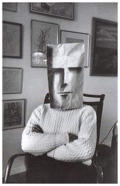 "from the book ""Saul Steinberg Masquerade"" by photographer Inge Morath"