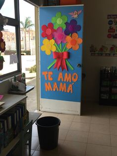 Classroom welcome, classroom door, sunday school classroom, school bulletin Classroom Welcome, Classroom Door, School Door Decorations, Class Decoration, Sunday School Classroom, Sunday School Crafts, Mothers Day Crafts, Crafts For Kids, Mother's Day Projects