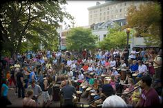 Asheville - The Friday Night Drum Circle in Pritchard Park - Bring Your Drum. ~ it's a MUST when visiting asheville. you've never REALLY been to the little san fran/portland of the east, if you haven't attended one of these...