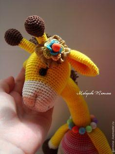 Игрушки животные, ручной работы. Ярмарка Мастеров - ручная работа. Купить Жирафка. Handmade. Желтый, игрушка в подарок, полубусины