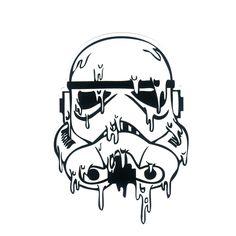 #1192 Star Wars Stormtrooper Ice Melting , Height 8 cm, decal sticker - DecalStar.com