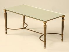 Vintage French Forties Maison Jansen Gilt Bronze Coffee Table