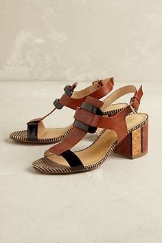 Alix Striped Heels