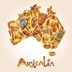 Illustration about Australia native aboriginal tribal ethnic colored sketch symbols in australian continent shape vector illustration. Illustration of kangaroo, drawn, continent - 45620206 Aboriginal Symbols, Aboriginal Education, Aboriginal Culture, Aboriginal Art, Australian Slang, Australian Continent, Trivia Questions And Answers, This Or That Questions, Australia Day