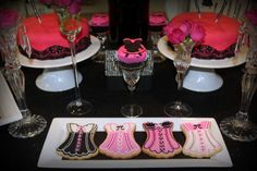 """Photo 1 of 21: Engagement/Bachelorette/Ladies Night / Bachelorette """"Mini Bachelorette Dessert Table"""" 