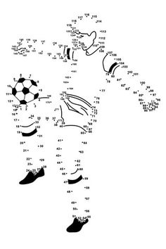 Soccer Player dot to dot Soccer Theme, Soccer Birthday, Soccer Party, Educational Games For Kids, Kids Learning, Activities For Kids, Sports Day, School Sports, Soccer Crafts
