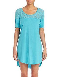 Cosabella Arizona Sleepshirt - Blue - Size