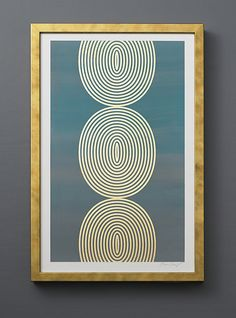 Hombre Coils, by Lisa Hunt Creative. Screen printed and gold leafed by the artist.