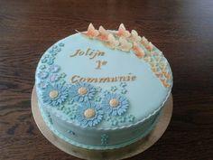 Communie taart (Citroen botercreme)