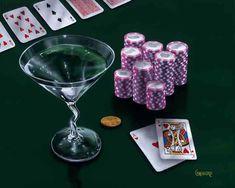 Oh My Godard Gallery.Poker Chips Big Slick -- by Michael Godard Godard Art, Duck Art, Poker Night, Poker Chips, Poker Table, As You Like, Martini, Custom Framing, Fine Art Prints