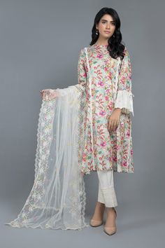 Wedaadstore - The Best Online Shop in Pakistan. Dyed & embroidered poly net dupatta with scallops The post SOFT NOTES appeared first on Wedaadstore. Beautiful Pakistani Dresses, Pakistani Dresses Casual, Pakistani Dress Design, Pakistani Fashion Party Wear, Indian Fashion Dresses, Indian Designer Outfits, Stylish Dress Book, Stylish Dresses For Girls, Simple Dresses