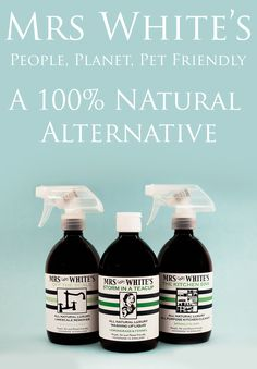 Mrs White's Natural Cleaning Products. Chemical free, so kinder on skin.