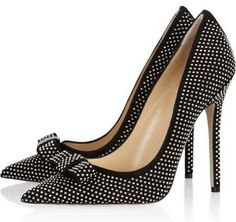 Jimmy Choo 'Maya' studded suede bow pumps >> Shoeperwoman Like this.