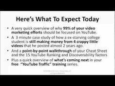 This video reveals the 15 quickest and easiest ways to grab more free traffic from YouTube, not just get more youtube views, but traffic to ...