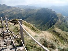 View back along the approach ridge from the summit of the Puy Mary Auvergne France guided walking holiday