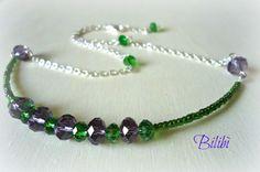 Bilibì: Girocollo verde-viola