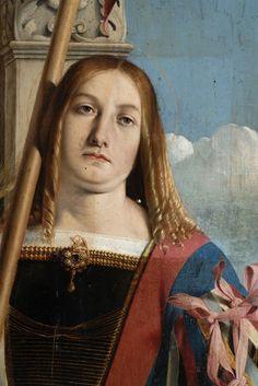 Lorenzo Lotto - Polittico di Recanati (dettaglio: tavola Santi Pietro martire e Vito) - olio su tavola - 1506-1508 - Museo Civico Villa Colloredo Mels - Recanati