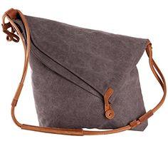 Tom Clovers Women's Men's Canvas Crossbody Messenger Shouder Handbag Tote Weekender Bag Grey Upgrade Tom Clovers http://www.amazon.com/dp/B018LVAYA0/ref=cm_sw_r_pi_dp_IjuSwb0W68CCW
