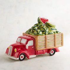 Pier 1 Imports Watermelon Truck Cookie Jar