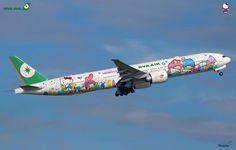 Toutes les tailles | Eva Air / Boeing 777-36NER / B-16722 / Hello Kitty Shining Stars | Flickr: partage de photos!