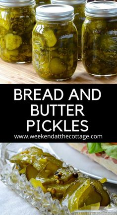 Make these delicious BREAD & BUTTER PICKLES with all those cucumbers from the garden! Our video shows every step of the way. Serve these sweet and tangy pickles with lunch or dinner! Bread N Butter Pickle Recipe, Bread & Butter Pickles, Homemade Bread And Butter Pickles Recipe, Pickling Cucumbers, How To Pickle Cucumbers, Preserving Cucumbers, How To Make Pickles, Canning Pickles, Cucumber Recipes
