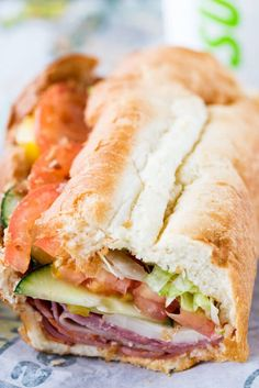 If you can't make it to Italy, take your tastebuds there with a SUBWAY Italian H. - If you can't make it to Italy, take your tastebuds there with a SUBWAY Italian Hero Sandwich, onl - Deli Sandwiches, Sandwiches For Lunch, Soup And Sandwich, Italian Sandwiches, Italian Hero Sandwich Recipe, Italian Panini, Vegan Sandwiches, Tostadas, Tacos