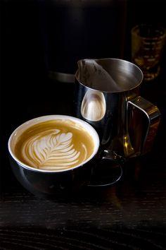 Coffee art. Cappuccino. Espresso. Italy