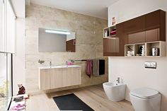 enchanting-contemporary-trendy-bathroom-ideas-with-natural-cherry-wood-storage-shelves-be-equipped-white-porcelain-sink-mounted-on-t…
