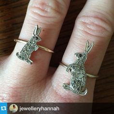 Could these conversions. By @jewelleryhannah be any more amazing?? #jewelry #antiquejewelry #bunnies | Diamonds in the Library