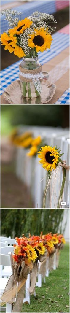 23 Bright Sunflower Wedding Decoration Ideas For Your Rustic Wedding!