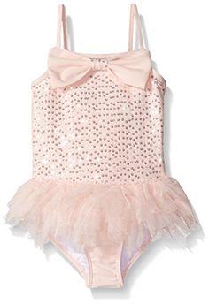 Kate Mack Little Girls Twinkle Toes One Piece Swimsuit with Skirt Pink 6 *** Check out the image by visiting the link.