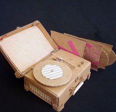 Cardboard Record Player & Records