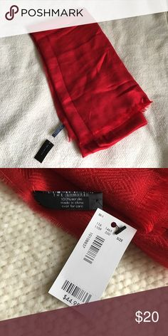 NWT The Limited red scarf Beautiful red scarf. New with tags. The Limited Accessories Scarves & Wraps