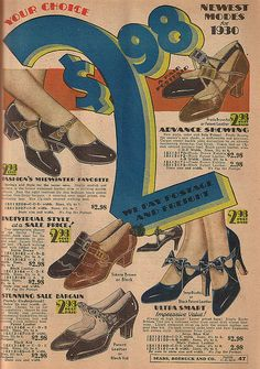 1930 Sear's Shoes