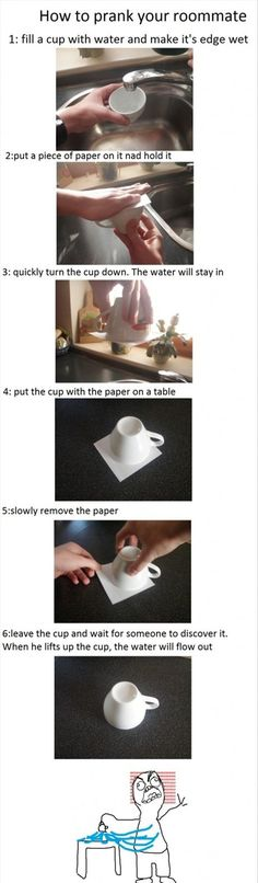 Not sure if I could do this to my roommate.. but to the girls kitchen sure! the funny college pranks.