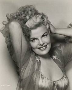 Cleo Moore   woman   curves   pin up   blonde   sexy   chiffon   posing