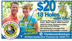 It's shaping up to be a beautiful day out on the greens. Get out and hit a few at Winter Quarters Golf Course in Pocomoke, MD. Play 18 holes with a cart for only $20 with your Frugals coupon. Print it out at www.frugals.biz Check out the new Pro Shop while you're there! www.cityofpocomokemd.gov