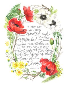 So beautiful! The verse, the poppies, all of it/