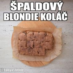 Video recept na špaldový blondie koláč Blondies, Ale, Bread, Food, Basket, Ale Beer, Brot, Essen, Baking