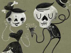 skull, skeleton, Halloween, character