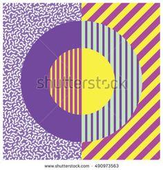 Circle geometric design. Graphic background