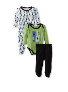 47% OFF Rumble Tumble Baby 3-Piece Gift Set (Green) #apparel #Kids