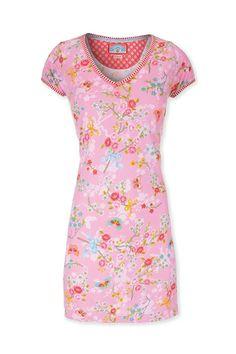 PiP Djoy Chinese Blossom Homedress Short Sleeve Pink